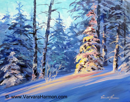 Acrylic Painting Winter Scenes