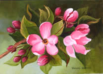 Apple Blossom, acrylic painting
