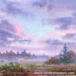 Morning Mist, watercolor painting