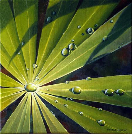 """Water Drops - 2"", Original Oil Floral Painting by Varvara ..."